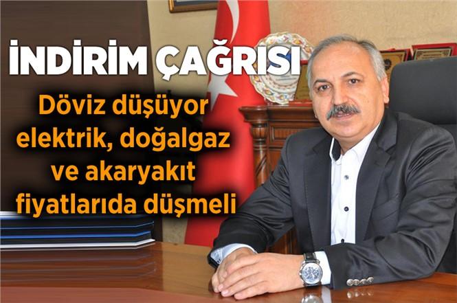 Mersin Esnaf ve Sanatkarlar Odaları Başkanı Talat Dinçer'den İndirim Çağrısı