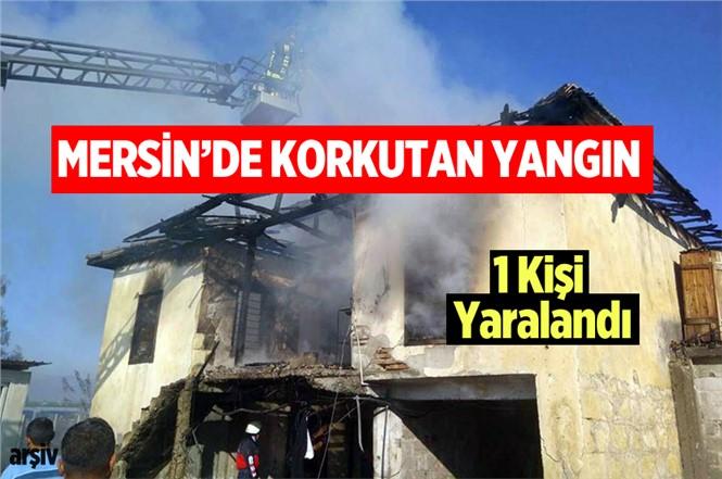 Mersin Tarsus'ta Bir Ev Yandı