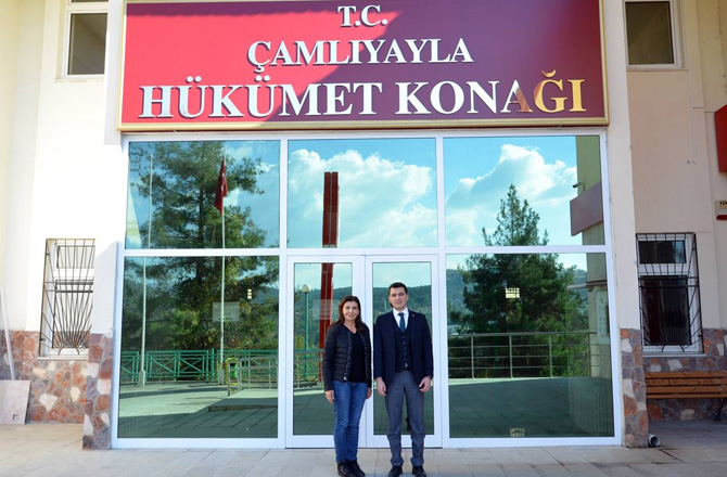 Türkiye Satranç Federasyonu Başkanı Gülkız Tulay'dan Çamlıyayla Kaymakamı Zor'a Ziyaret