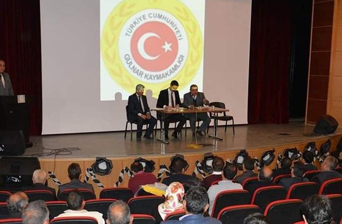 Mersin Gülnar'da Muhtarlar ve Halkla Toplantı Yapıldı