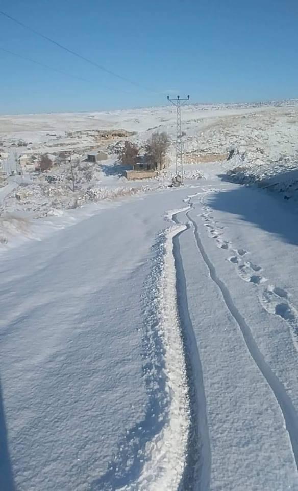 Mersin'in Yüksek Kesimlerine Kar Yağdı