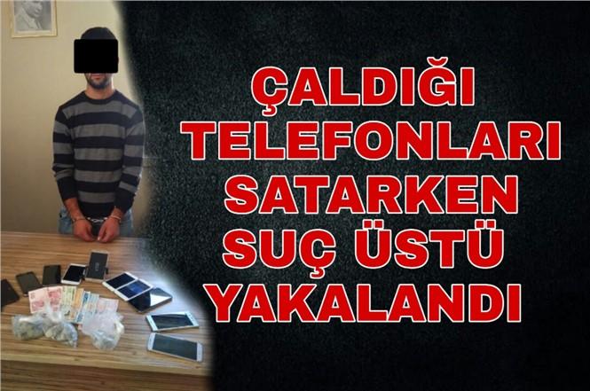 Mersin'de İş Yerinde Cep Telefonu Çalan Zanlı Kıskıvrak Yakalandı