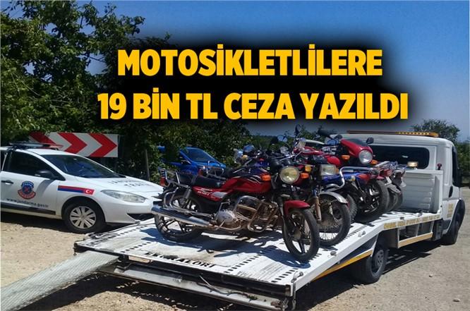Mersin Tarsus'ta Motosiklet Sürücülerine 19 Bin Ceza Yazıldı