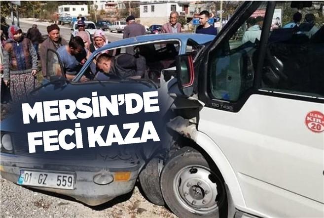 Mersin Silifke'de Meydana Gelen Kazada Otomobil ve Minibüs Çarpıştı, Yaralılar Var...