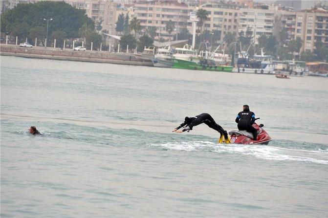 Mersin'de Gemi Kaçırılmasına Müdahale Tatbikatı Yapıldı