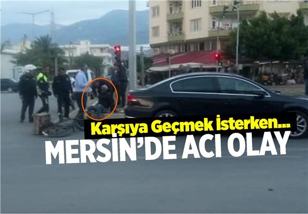 Mersin'in Bozyazı İlçesi D-400 Karayolu Üzerindeki Kazada Bisiklet Sürücüsü Hüsnü Ertan Yaralandı