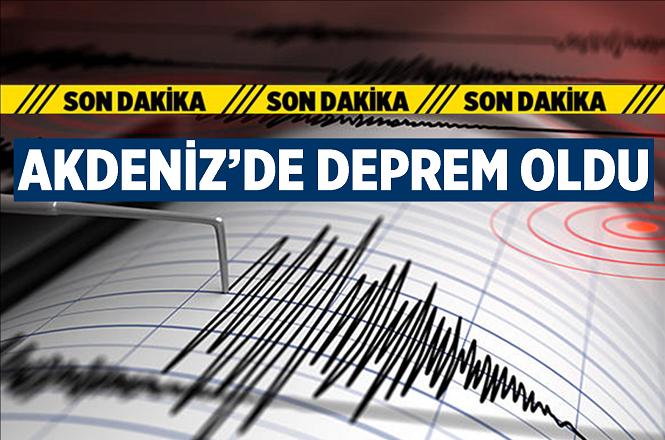 Muğla'nın Marmaris ilçesi açıklarında 4,4 büyüklüğünde deprem meydana geldi