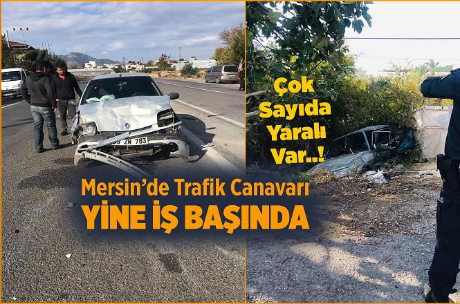 Mersin Bozyazı İlçesi Çubukkoyağı Mahallesinde İki Araç Çarpıştı, Kazada 4 Kişi Yaralandı