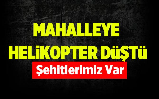 İstanbul'da Askeri Helikopter Düştü
