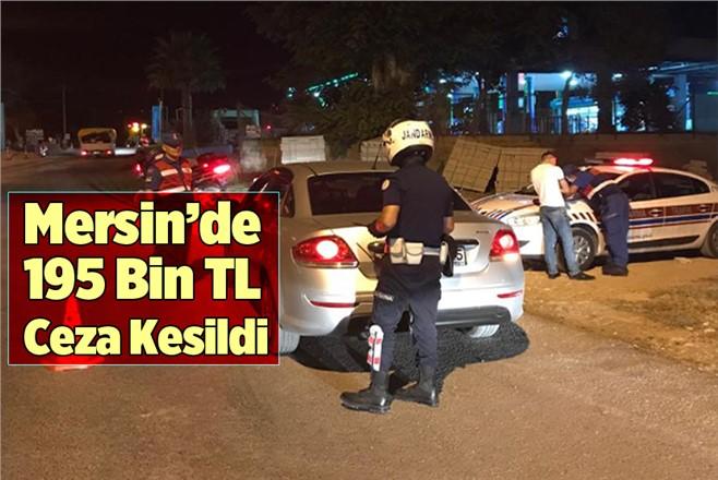 Mersin'de Jandarma Ekipleri Bir Hafta 195 Bin TL Trafik Cezası Kesti