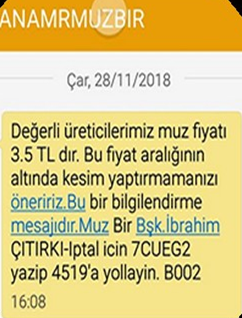 Anamur MUZ-BİR Başkanı İbrahim Çıtırkı'dan Üyelerine 'Muz Fiyatları' İle İlgili Mesaj