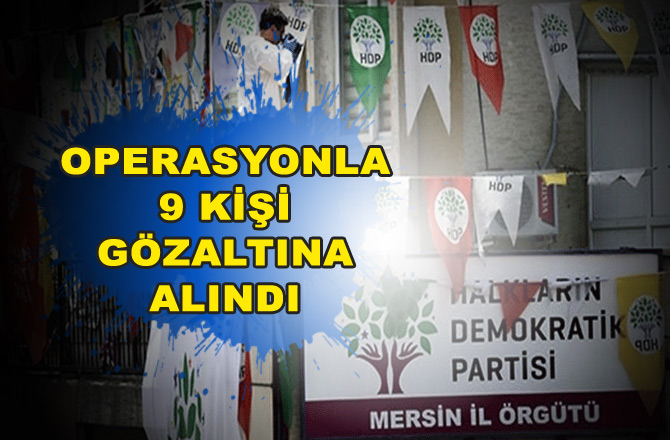 Mersin HDP İl Binasına Teröristbaşı Öcalan Baskını