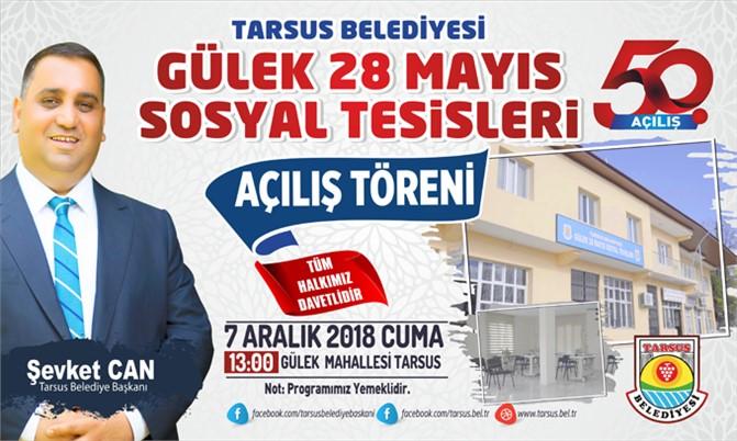 Tarsus Belediyesi 50. Hizmeti; Gülek Mahallesi Sosyal Tesisleri 7 Aralık Cuma Günü Açılıyor