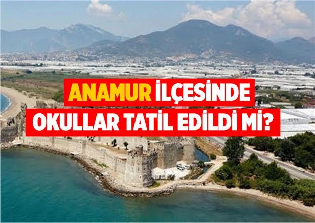 Mersin'in Anamur İlçesinde 6 Aralık Perşembe Günü Okullar Tatil mi?