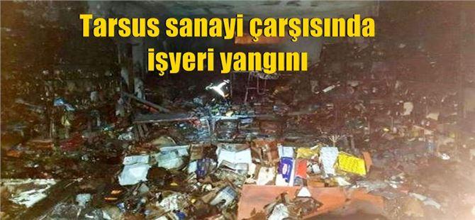Tarsus Sanayi Sitesinde Bir Yedek Parça Dükkanın Yangın Çıktı