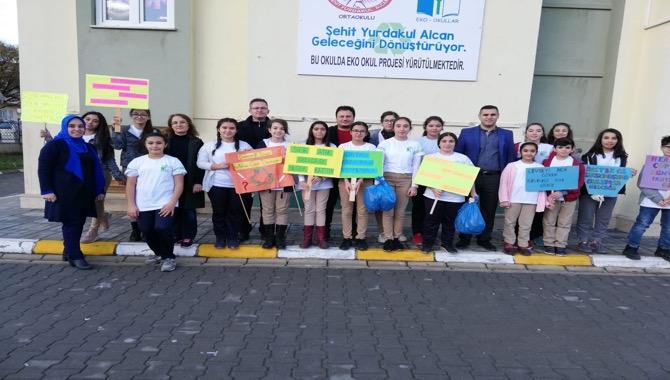Tarsus Şehit Yurdakul Alcan Ortaokulu'ndan Eko Okul Çevre Şenliği