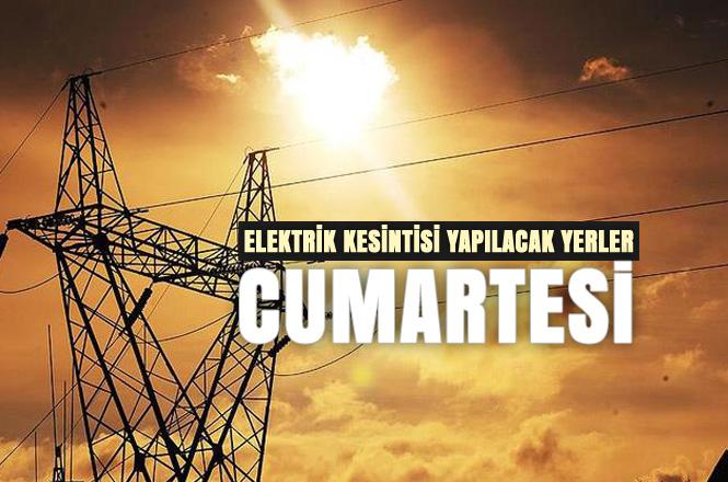 Cumartesi (15 Aralık) Günü, Mersin Merkez ve İlçelerinde Planlı Elektrik Kesintileri