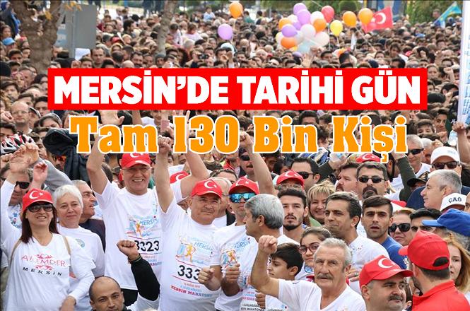 Bu Yıl 4.'sü Düzenlenen Mersin Maratonu'na 130 Bin Kişi Katıldı