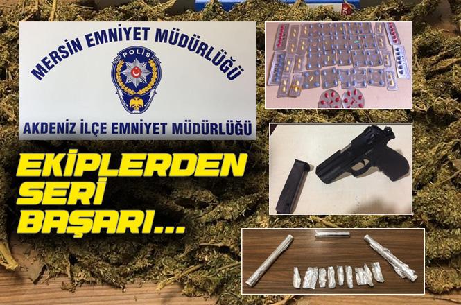 Akdeniz İlçe Emniyet Müdürlüğü Polis Ekiplerinin Seri Başarısı