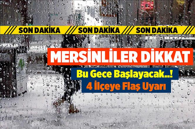 Mersin'de 25 Aralık Gecesi ve 26 Aralık Çarşamba Hava Durumu