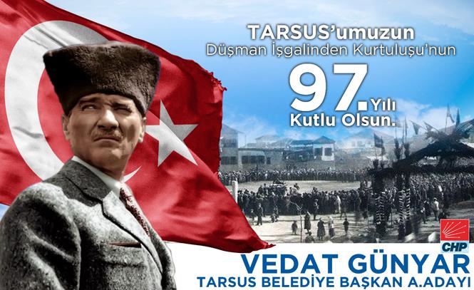 """CHP Tarsus Belediye Başkan A.Adayı Günyar'dan """"27 Aralık"""" Kutlama Mesajı"""