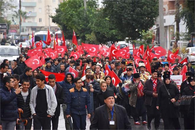 Tarsus'un Düşman İşgalinden Kurtuluşu'nun Yıldönümü Yağmura Rağmen Coşkuyla Kutlandı
