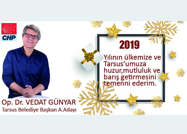 CHP A.Adayı Op.Dr. Vedat Günyar'dan Yeni Yıl Mesajı
