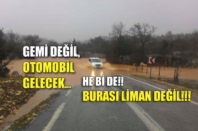 Mersin Gülnar'da Yağmur Sularının Getirdiği Sel Yolu Kapattı