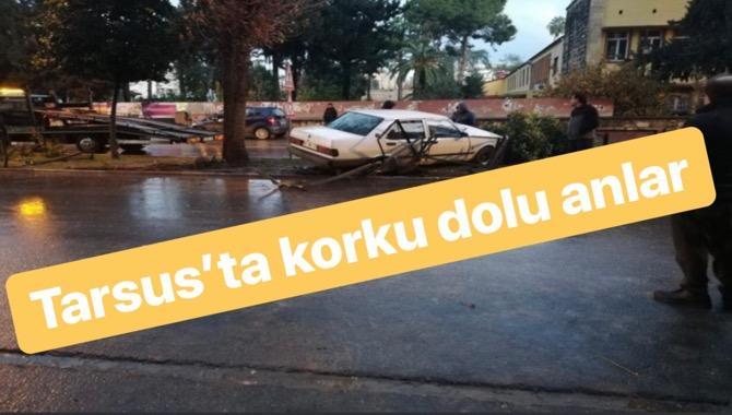 Mersin Tarsus Kız Meslek Lisesinin Önünde Kaza