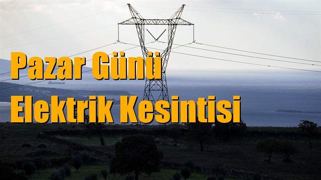 Mersin Elektrik Kesintisi 13 Ocak Pazar Günü Kesintileri