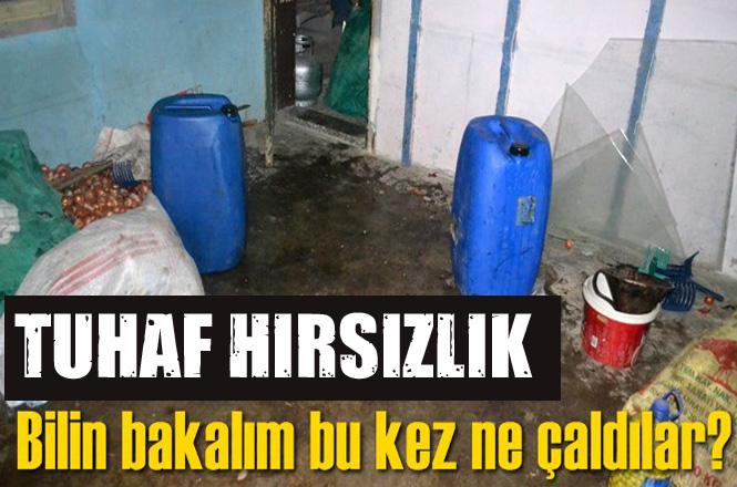 Mersin Tarsus İncirlikuyu Mahallesinde Hırsızlar 100 Litre Zeytinyağı Çaldı