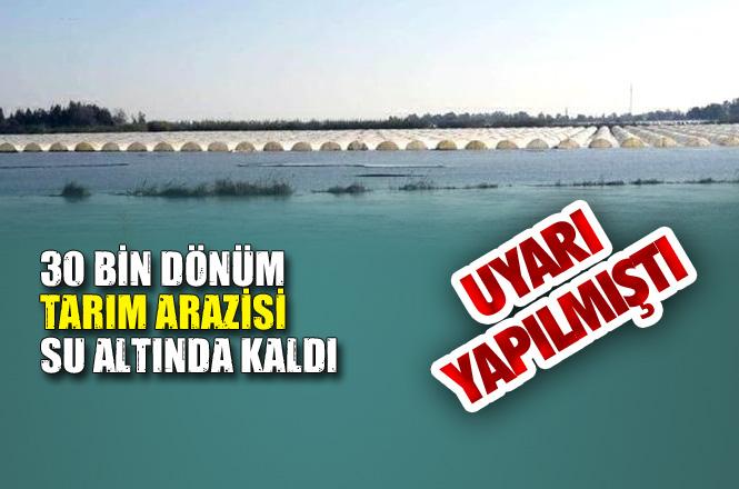Valilik ve Büyükşehir Belediyesi Uyarısını Yapmıştı, Tarsus'ta 30 Bin Dönüm Arazi Su Baskınında Kaldı