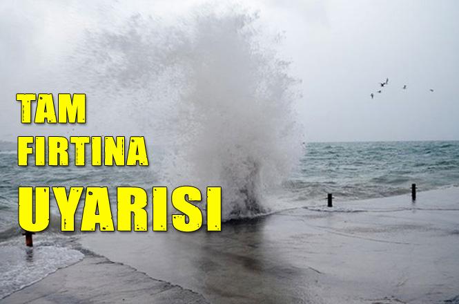 İçerisinde Akdeniz'inde Yer Aldığı Bir Çok Bölgeye Meteorolojiden Fırtına Uyarısı, Fırtınanın Hızı Saatte 100 KM'yi Bulacak