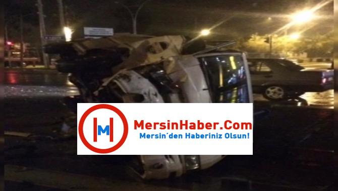 Mersin Tarsus'ta Feci Kaza:4 Yaralı