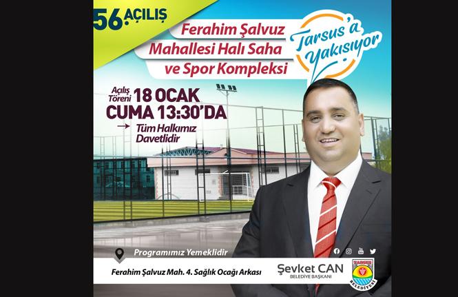 Ferahim Şalvuz Mahallesi Halı Saha ve Spor Kompleksi 18 Ocak Cuma Günü Açılıyor