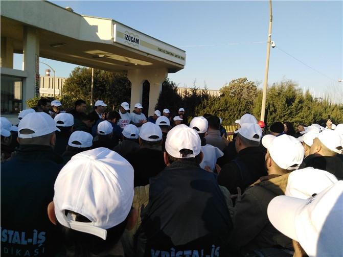 İzocam Tarsus ve Dilovası Fabrikalarındaki İşçiler Greve Çıktı