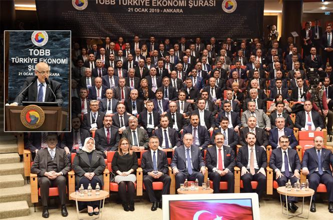 MTSO Yönetim Kurulu Başkanı Kızıltan ve Meclis Başkanı İzol Türkiye Ekonomi Şurasında
