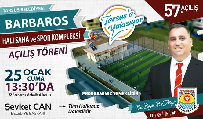 Tarsus Belediyesi Tarafından Yapımı Tamamlanan, Barbaros Mahallesi Halı Saha ve Spor Kompleksi Açılıyor