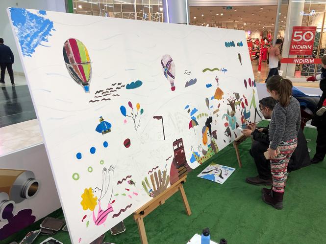 Palm City Mersin Alışveriş Merkezi Yapılacak, Bir Tablo Bin Fırça Projesi Mersinlileri Sanatla Buluşturuyor