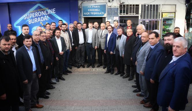 Erdemli Belediye Başkanı MHP'li Tollu'dan AK Parti Erdemli İlçe Başkanı Mehmet Topçu'ya Hayırlı Olsun Ziyareti