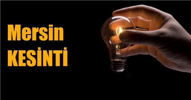 Mersin ve İlçelerinde Elektrik Kesintisi Yapılacak, 26 Ocak Günü Kesinti Yapılacak Yerler Ve Saatleri