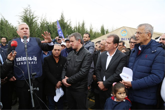 Mezitli Belediye Başkanı Neşet Tarhan, Direnen Grevdeki İzocam İşçileriyle Tek Yürek Oldu