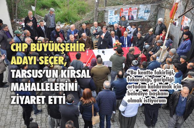 """Mersin Büyükşehir Adayı Vahap Seçer, """"Bu Kente Refah ve Huzur Getirmek İçin Belediye Başkanı Olmak İstiyorum"""""""