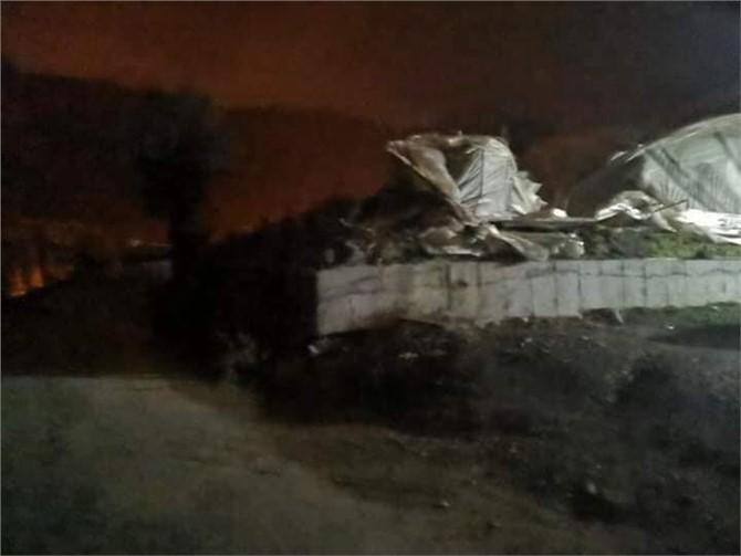 Mersin Bozyazı'da Gece Saatlerinde Hortum Felaketi