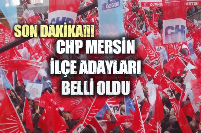 CHP Mezitli Adayı, CHP Tarsus Adayı, CHP Anamur Adayı,CHP Silifke Adayı ve CHP Yenişehir Adayı Belli Oldu