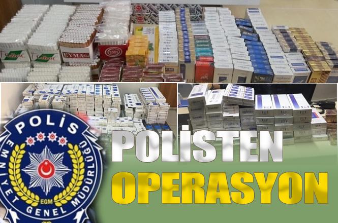 Mersin'de Binlerce Paket Kaçak Sigara ve Nargile Tütünü İle Makaron Sigara Ele Geçirildi!