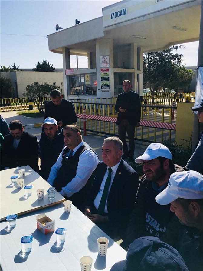 Tarsus Belediye Başkanı Şevket Can'dan Grevdeki İzocam İşçilerine Destek Ziyareti