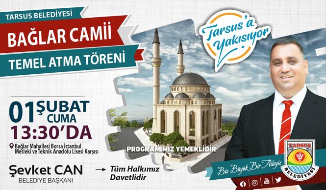 Bağlar Camii Temeli 1 Şubat 2019 Cuma Günü Atılıyor