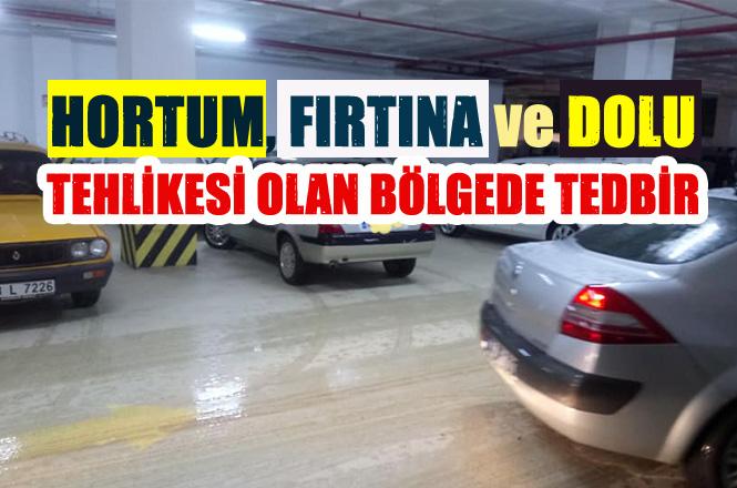 Batı Mersin'de Şiddetli Yağış Başladı! Araçlar Kapalı Otopark ve Kapalı Semt Pazarlarına Koyuldu