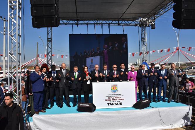 Tarsus'ta Toplu Konut Projesi; 472 Dairelik Toplu Konut Projesinin Temeli Törenle Atıldı